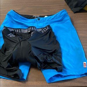 Women's Fox mountain Bike shorts with liner